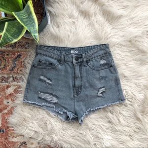 Urban Outfitters Shorts - UO BDG Super High Rise Cheeky Distressed Shorts